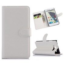 Witte lychee Bookcase hoes ZTE Blade L3