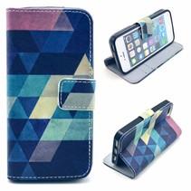 Kleurrijke driehoeken Booktype  hoesje iPhone 5 / 5s / SE