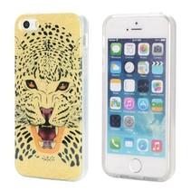 Luipaard glitter TPU hoesje iPhone 5 / 5s / SE