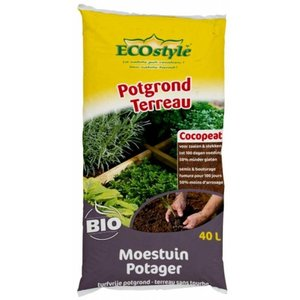 ECOstyle Potgrond Cocopeat Moestuin 40L - 18KG