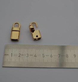 22885 O T5 Musketonhaak/eindstuk 0.6mm goud