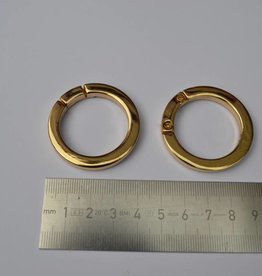 R69 Ronde ring 30mm goud (per 2)