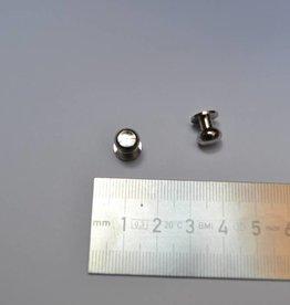 POM 501/Nikel POM10 Geweerknopjes zilver  5MM