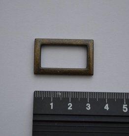 R38 Rechthoekige ring brons 25mm