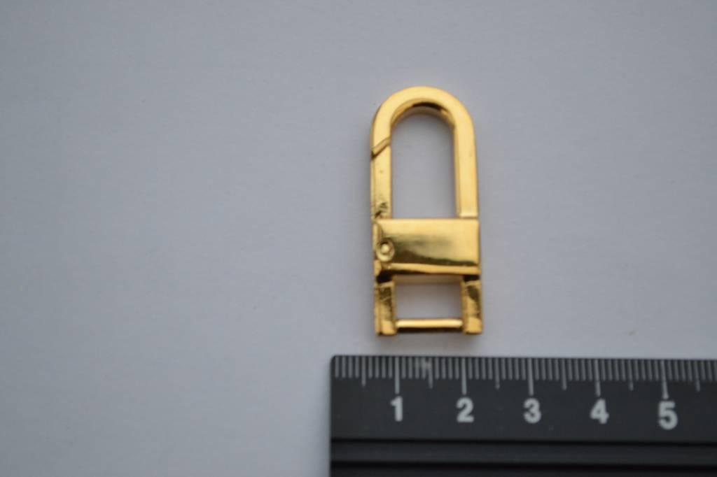 Musketonhaak 10mm goud