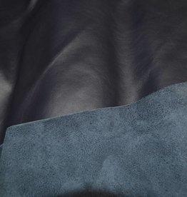 Nappa leder Flag donkerblauw 1/4 vel
