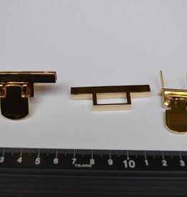 F19 draaisluiting goud