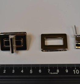 TW42  Draaisluiting zilver rechthoekig