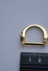D-ring 20mm goud