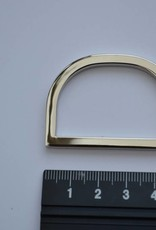 D-ring 40mm zilver
