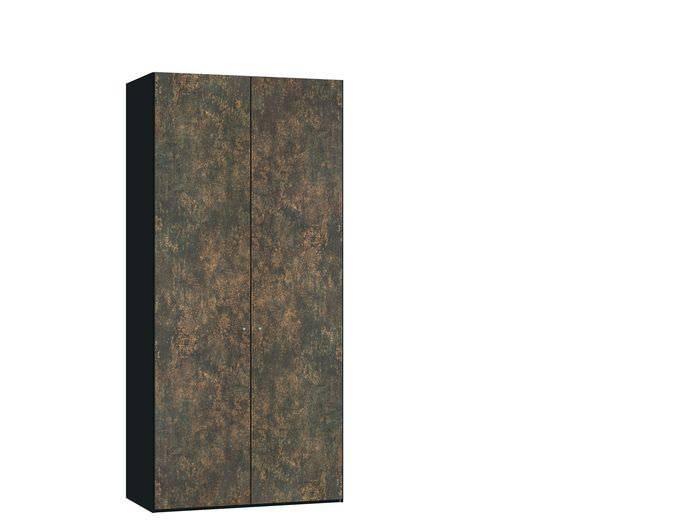 Judine Ferro Draaideurkast Brons/Zwart 2 deurs
