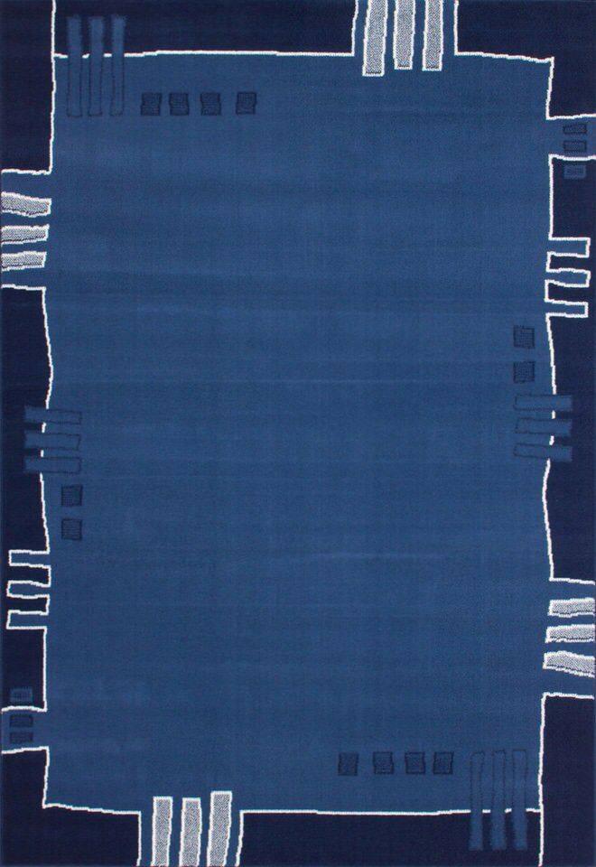 woonkamer Kayoom Vlamer Vloerkleed 120x170 Blauw
