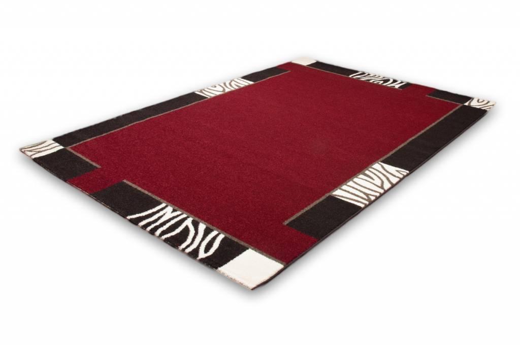 woonkamer Lalee Modern Vloerkleed 80x150 Rood 103