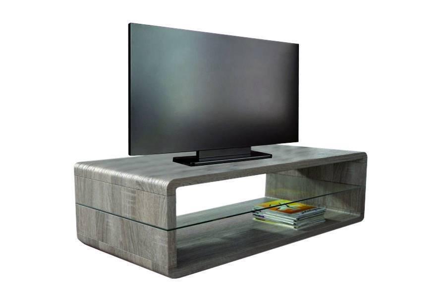 woonkamer Monaica Derby TV meubel Large Donker Eiken