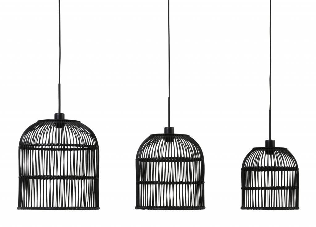 Davidi Design Molara goedkope hanglamp Zwart set van 3