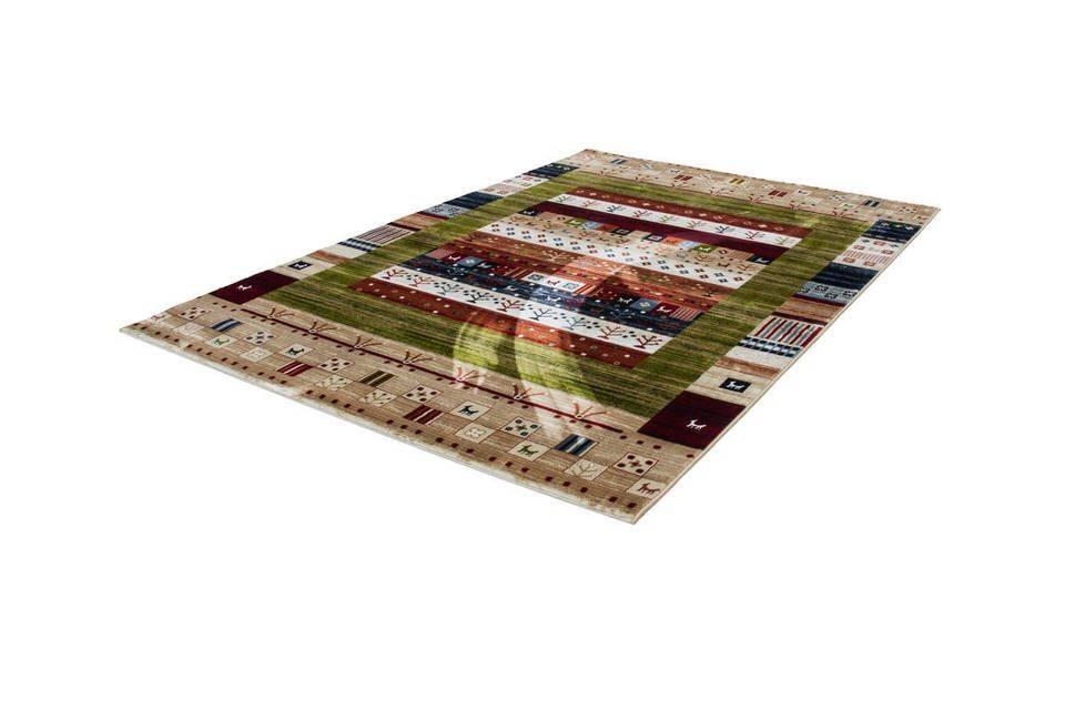 woonkamer Kayoom Atlas Vloerkleed 200x290 Groen