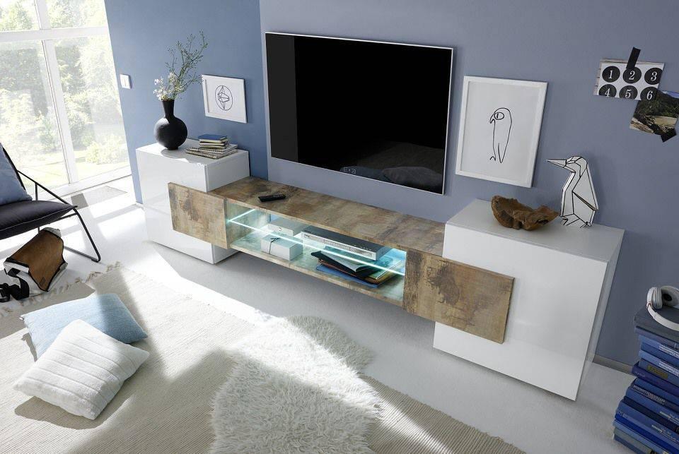 woonkamer Benvenuto Design Sandrino TV meubel Eiken