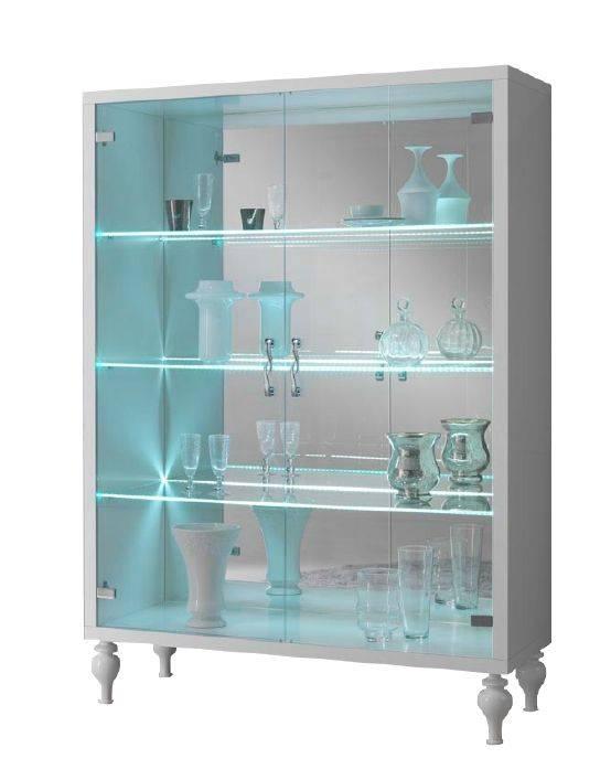 woonkamer Davidi Design Rosita Big Vitrinekast HG Wit+LED