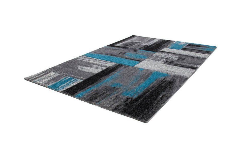 woonkamer Kayoom Swing Vloerkleed 120x170 Blauw
