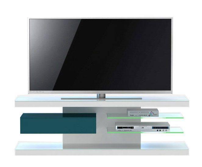 woonkamer Jahnke Moebel TV meubel SL 660 LED Wit Petrol Groen