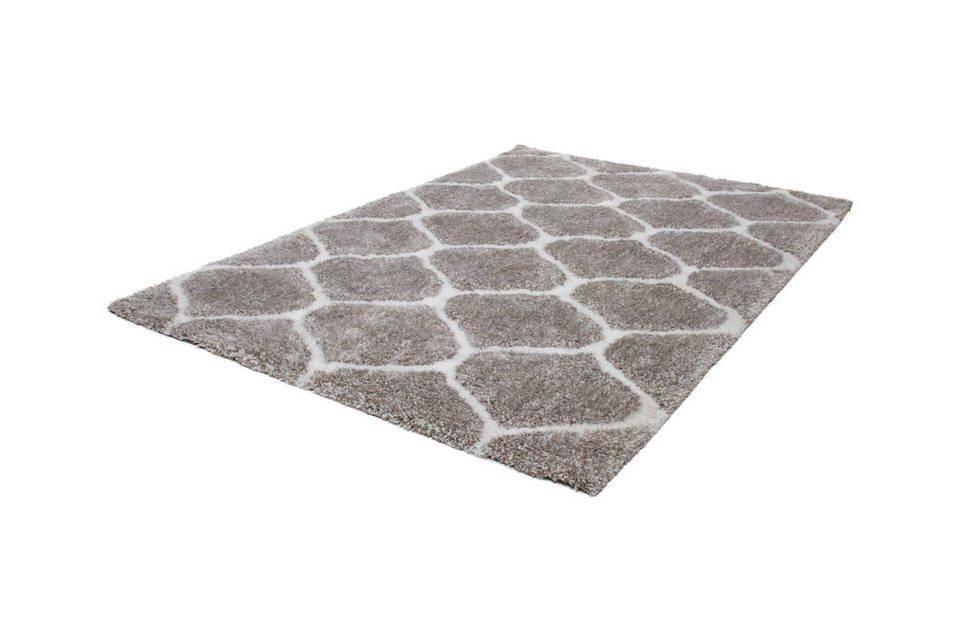 woonkamer Kayoom Grace Vloerkleed 80x150 Zilver Wit