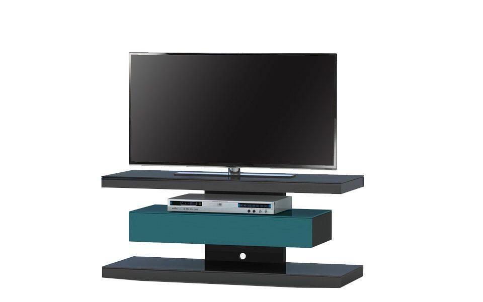 woonkamer Jahnke Moebel SL 610 TV meubel Zwart Petrol Groen