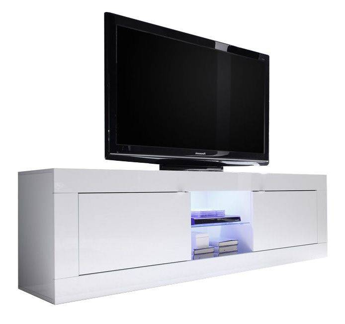 woonkamer Benvenuto Design Modena TV meubel Big HG Wit + LED