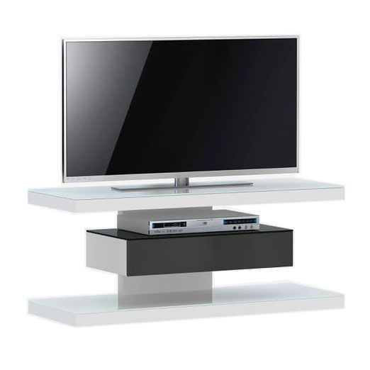 woonkamer Jahnke Moebel SL 610 TV meubel Wit Zwart