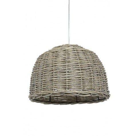 Davidi Design Rotan goedkope hanglamp Grijs Small