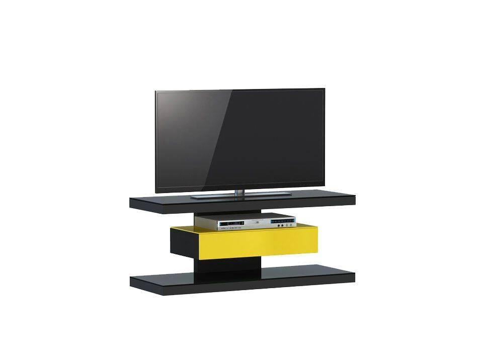 woonkamer Jahnke Moebel SL 610 TV meubel Zwart Geel