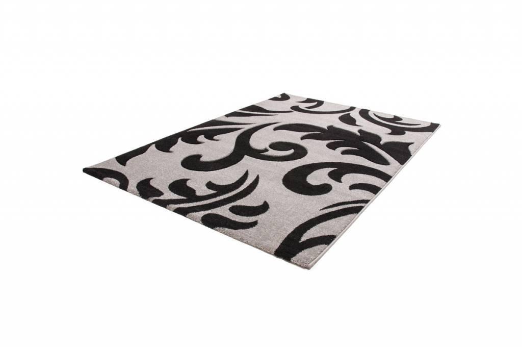 woonkamer Lalee Havanna Design Vloerkleed 120x170 Zilver 415