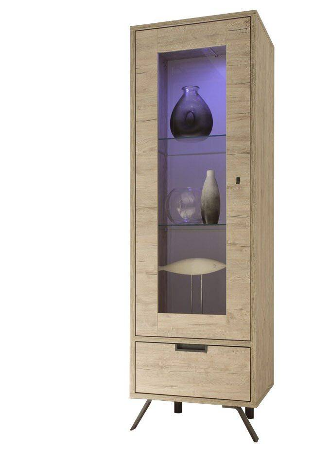 woonkamer Benvenuto Design Benveuto Design Palma Vitrinekast Small Eiken+LED verlichting