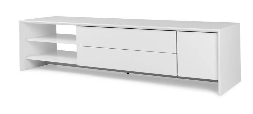 woonkamer Tenzo Profil TV meubel 180 cm. Wit