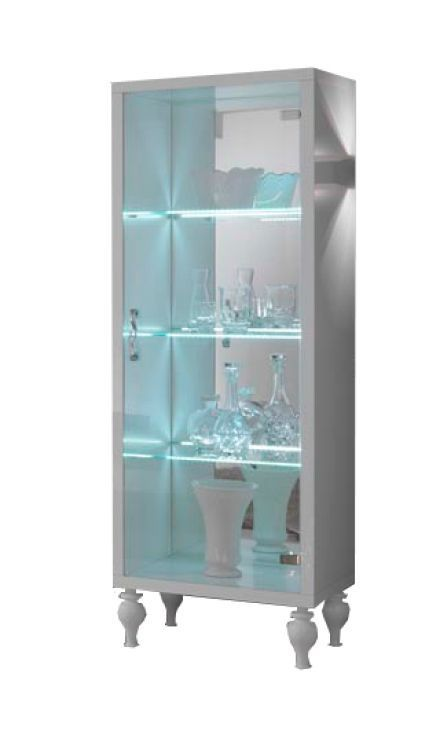 woonkamer Davidi Design Rosita Vitrinekast HG Wit+LED