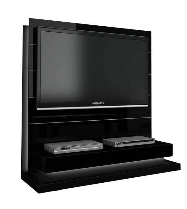 woonkamer Hubertus Meble Panorama Lux TV meubel HG Zwart
