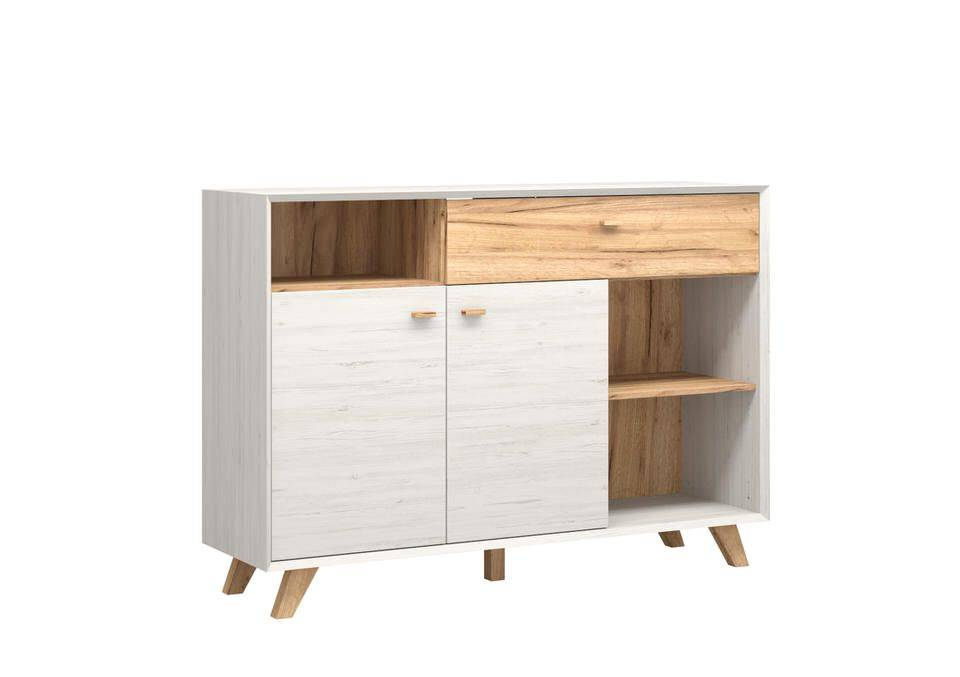 woonkamer Germania Calvi Dressoir Medium Wit Hoge Poten