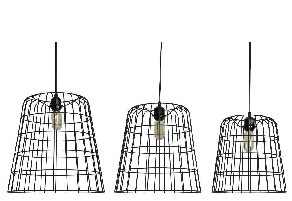 Davidi Design Cora goedkope hanglamp set van 3 Zwart