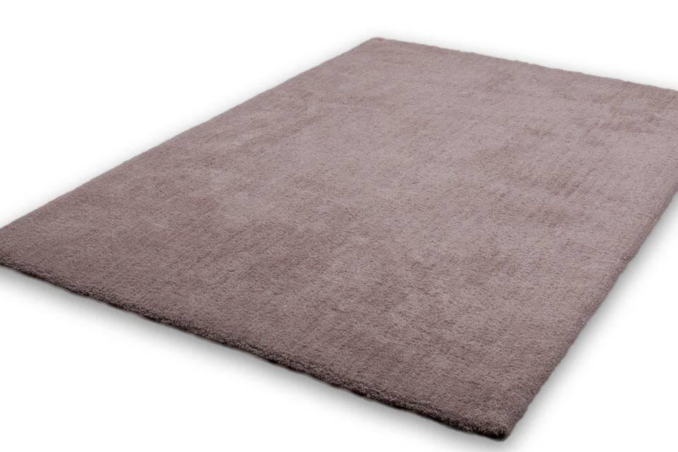 Lalee Velvet effen slaapkamer vloerkleed 80x150 Beige 500