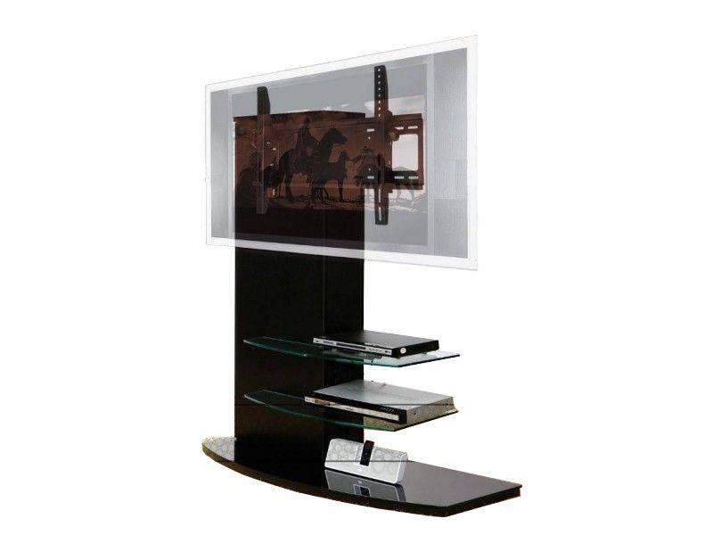 woonkamer Casado Almeria TV meubel Zwart Transparant glas