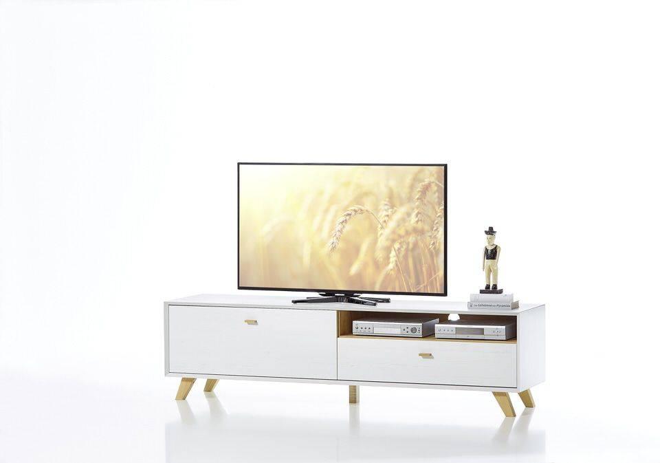 woonkamer Germania Calvi TV meubel Medium Wit Hoge Poten