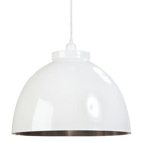 Davidi Design Kylie goedkope hanglamp Wit Nikkel Medium