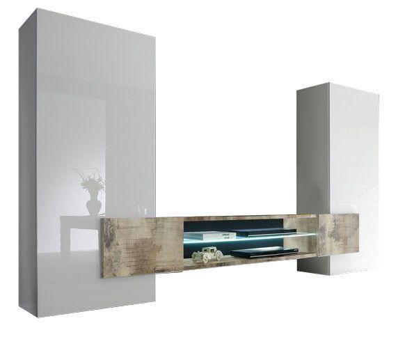 woonkamer Benvenuto Design Incastro TV meubel Eiken