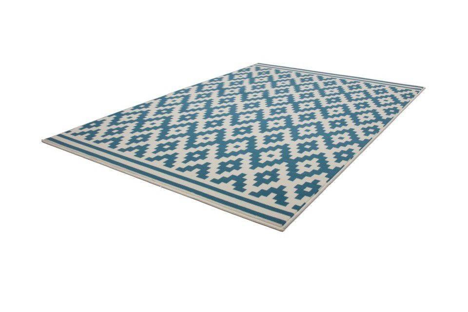 woonkamer Kayoom Now Vloerkleed 120x170 Turquoise