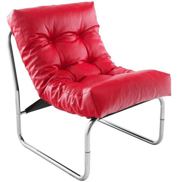woonkamer Bondy Living Emilia Fauteuil Rood