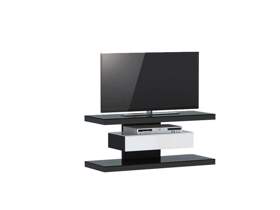 woonkamer Jahnke Moebel SL 610 TV meubel Zwart Wit