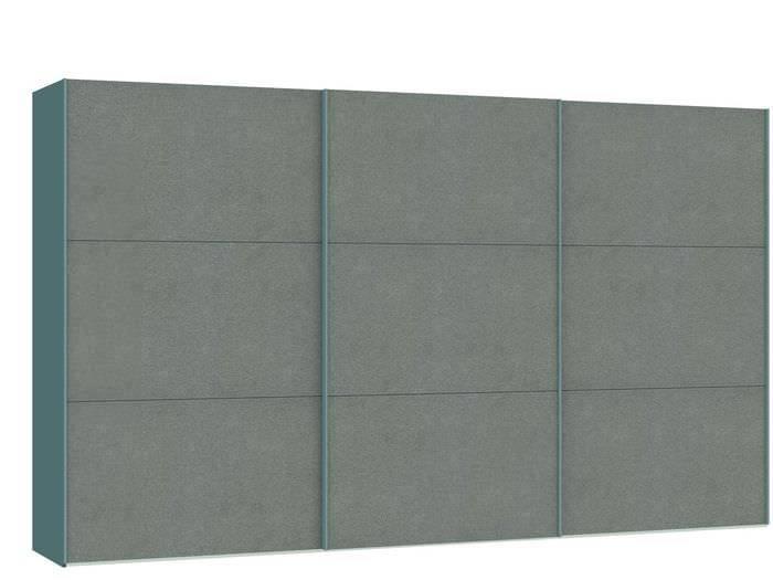 Judine Solvig Schuifdeurkast Grijs/Metaal 378.6 cm.