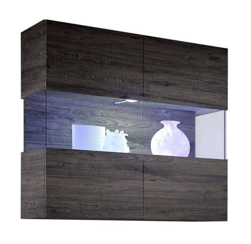 woonkamer Benvenuto Design Line Vitrinekast Wenge+LED verlichting