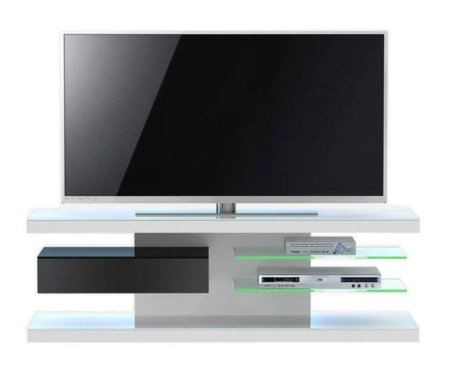 woonkamer Jahnke Moebel TV meubel SL 660 LED Wit Zwart