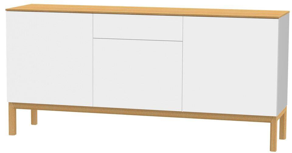 woonkamer Tenzo Patch Dressoir 179 cm. Wit Eiken Fineer