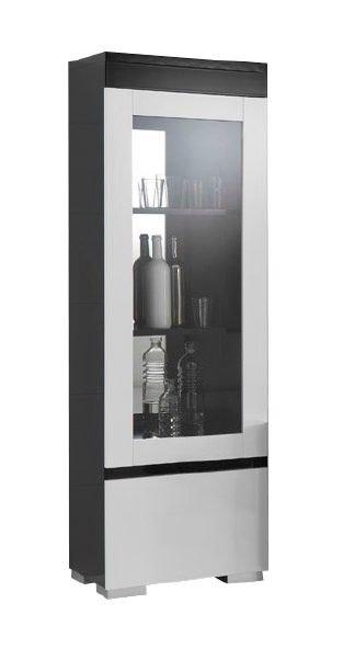 woonkamer Davidi Design Zenos Vitrinekast HG Zwart Wit